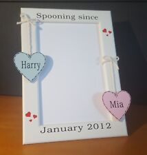 Personalised 4x6 picture photo frame engagement valentines boyfriend gift