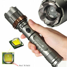 Tactical Police 12000LM XM-L T6 LED 5Modes 18650 Flashlight Lamp Battery*Charger
