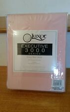 Luxor King Bed Skirt Executive 3000 Series Blossom Light Pink Wrinkle Resistant