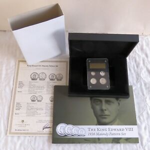 1936 EDWARD VIII 4 COIN SILVER PROOF PATTERN MAUNDY SET - presentation set