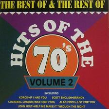Various 70s Pop(CD Album)Hits Of The 70's Volume 2-Action Replay-CDAR 1-New