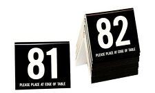 Plastic Table Numbers 81-100, Tent Style, Black w/white number, Free shipping