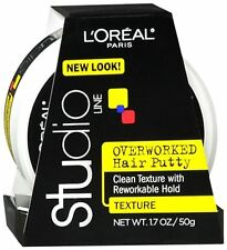 L'Oreal Studio Line Overworked Hair Putty 1.70 oz (Pack of 3)