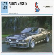 1972-1989 ASTON MARTIN V8 Classic Car Photo/Info Maxi Card