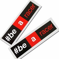 Aprilia #Be a racer  Motorcycle graphics stickers decals x 2 rectangle 3 colour