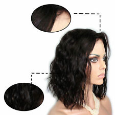 Real Brazilian Virgin Human Hair Wigs Body Wave Lace Front Wig Pre Plucked Bob #