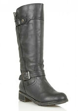 New Womens Lotus Black Kiln  Boots Knee-High Buckle Zip Size 8 Eur 41 New £26.99