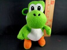 "Super Mario Brothers Green YOSHI Belt Clip Nintendo Plush Stuffed Toy 7"" US Sell"