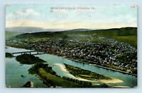 Towanda, PA - RARE EARLY 1900s AERIAL AIR VIEW FROM TABLE ROCK - POSTCARD - S3