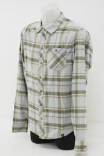 New! Pearl iZumi Men's Rove Long Sleeve Shirt Casual Cycling Medium Gray Plaid