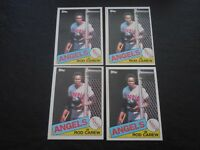 (4) 1985 Topps #300 Rod Carew Los Angeles Angels Baseball Card LOT