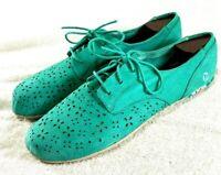 Merrell Mimix Maze Green Lace Up Comfort Flats Barefoot Walking Women's Size 11