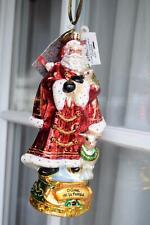 Retired Christopher Radko Santa O Come All Ye Faithful Blown Glass Ornament