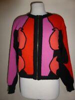 Vintage MONDI Sweater ESCADA Wool Angora Zip Bolero sz 36