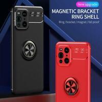 Pour Oppo Find X3 Pro 5G Étui, Slim Bague Armure Chocs Gel Pied Téléphone Housse
