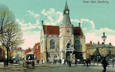 Bamburg,Northd,U.K.Town Hall,London & North Western Railway Deliver Wagon,1909
