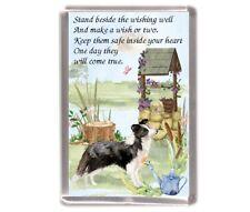 "Border Collie Dog Large Fridge Magnet (60 x 90mm) ""WISHING WELL POEM"" -Starprint"