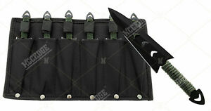 Stealth Kit 6pc Tactical Knives With Leg Sheath 440 Stainless Steel Ninja Knives