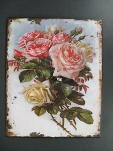 Metal Sign,Advertisement Sign, Roses, Flowers Wall Sign 25x20 CM