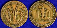 10 FRANCS 1974 AFRICA DELL'OVEST WEST AFRICAN STATES #9217