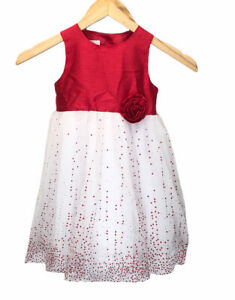 Marmellata Special Occasion Dress Size 2T Red White Valentines Party Wedding