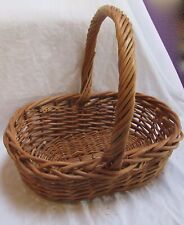 """Wood Twig Vegetable/Fruit Basket 16 x 11 x 6"""" Made in China"""