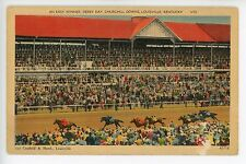 An Easy Winner DERBY DAY Vintage Kentucky Churchill Downs Horse Racing PC 1930s