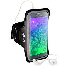 Nero Fascia Braccio Armband per Samsung Galaxy Alpha SM-G850 Sport Corsa Jogging