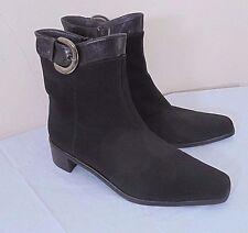 Stuart Weitzman Black Gore Tex Ankle Boots Womens 9M Buckle Trim Versatile