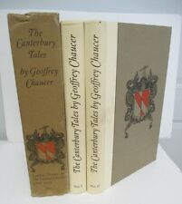 CANTERBURY TALES by Chaucer, Limited Editions Club, 2 Vols in Slipcase, 1934