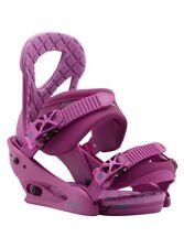 USED ONCE Women's Burton Snowboard Bindings Stiletto Hot Purple 2017 S Small