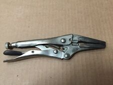 "Husky 6.5"" Long Nose Straight Jaw Locking Pliers Cr-V Vise Grip Tool"