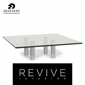 Draenert Glass Coffee Table Silver Table #12250