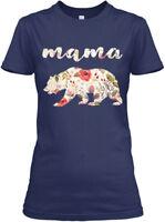 Custom Mama Bear Floral - Gildan Women's Tee T-Shirt Gildan Women's Tee T-Shirt