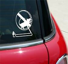 Mouse On Exercise Wheel Mice Graphic Decal Sticker Art Car Wall Decor