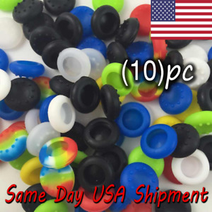 10x  Thumb Stick Grip Analog Silicone Cap Covers For PS4 PS3 Xbox One Wii U