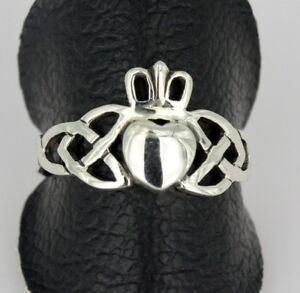 Ring  Silber - Keltische - Dreifaltigkeit - Claddagh    RR-50