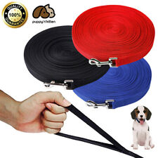 Dog Leash Long Obedience Recall Foot Feet Training Lead 6/15/23/33/50/100 Ft