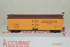 HO scale Accurail Lackawanna RR 40' wood reefer car train MW KD's
