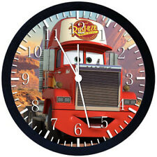 Disney Cars Mack Black Frame Wall Clock Nice For Decor or Gifts W261