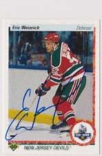 90/91 Upper Deck Eric Weinrich New Jersey Devils Autographed Hockey Card
