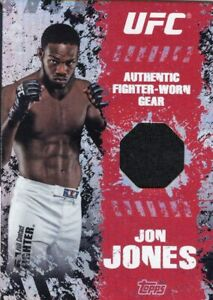 Jon Jones 2010 Topps UFC Main Event Fighter Gear Relic Card