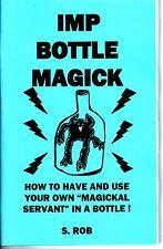 IMP BOTTLE MAGICK book S. Rob - strange book - magic occult