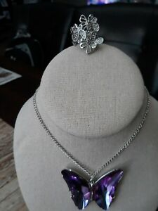 """paparazzi""""The Social butterfly Effect Purple Necklace""""with A Free BUTTERFLY..."""