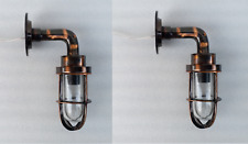 Outdoor Indoor Heavy Brass Wall Mount Lamp Japanned Finish Set of 2