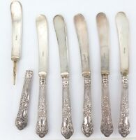 .VINTAGE QUALITY MATCHING SET OF 6 STERLING SILVER BUTTER KNIVES PRICED TO SELL