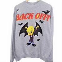 D174 Vintage Looney Tunes Tweety Bird Vampire Back Off Crewneck Sweatshirt XL