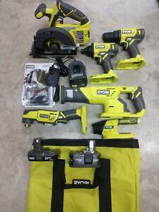 RYOBI 18V One+ 6 Tool Combo Kit w/ 3 Battery & Charger