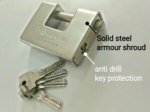 High Security Padlock Container Monoblock  Garage Trailer Pad Lock Box Shutter