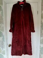 Carole Hochman Silky Rose Textured Plush Shawl Collar Robe Cabernet Size Medium